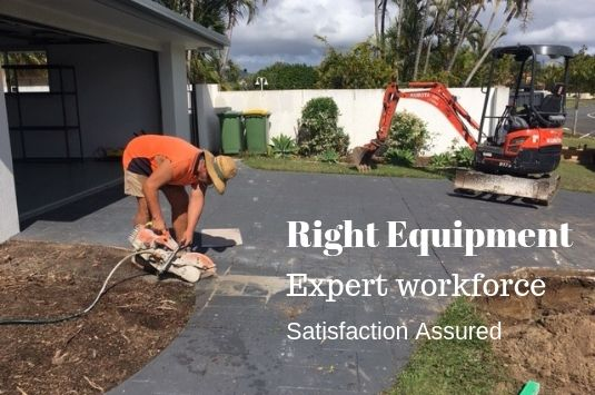 Construction equipment hire | Mudgeeraba QLD | landscaping, earthworks, concreting, demolition and skip bin hire services